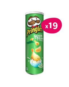 Pringles Sour Cream & Onion - 175g (x19)